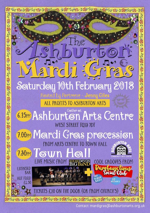 Ashburton Mardi Gras 2018 Poster