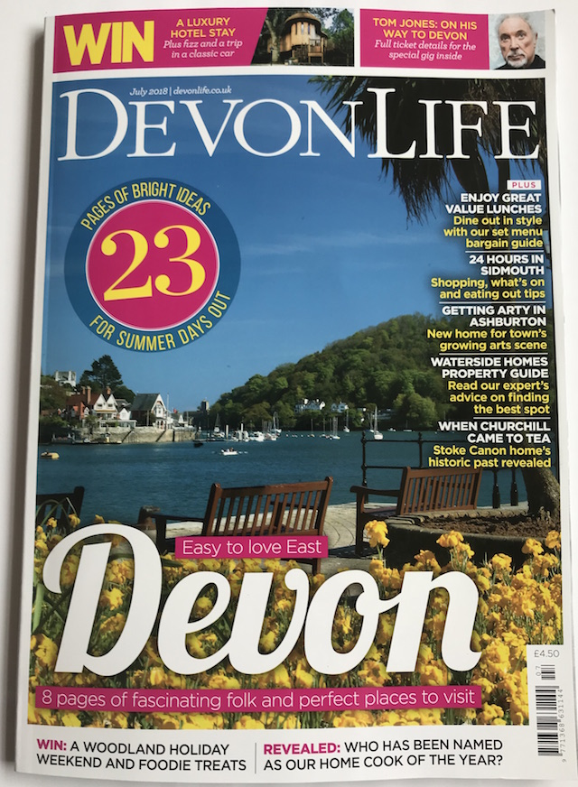 Devon Life July 2018 Cover Featuring Ashburton Arts