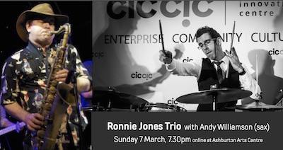 Ronnie Jones Trio with Andy Williamson (sax) – online