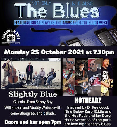 Not Only But Also the Blues October 2021 Hotheadz Slightly Blue Rhythm Doctors