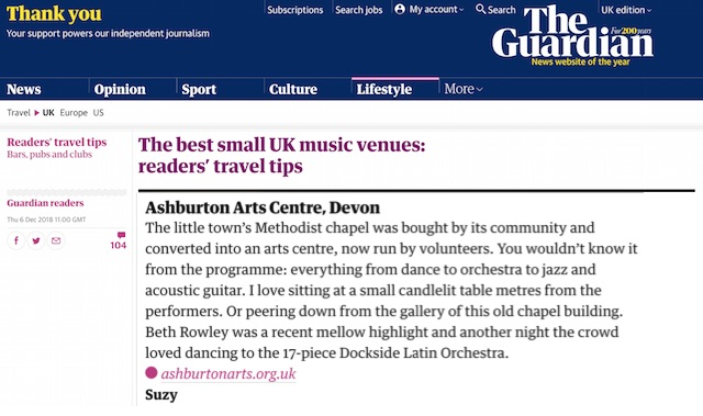 The Guardian 10 best small music venues in the UK